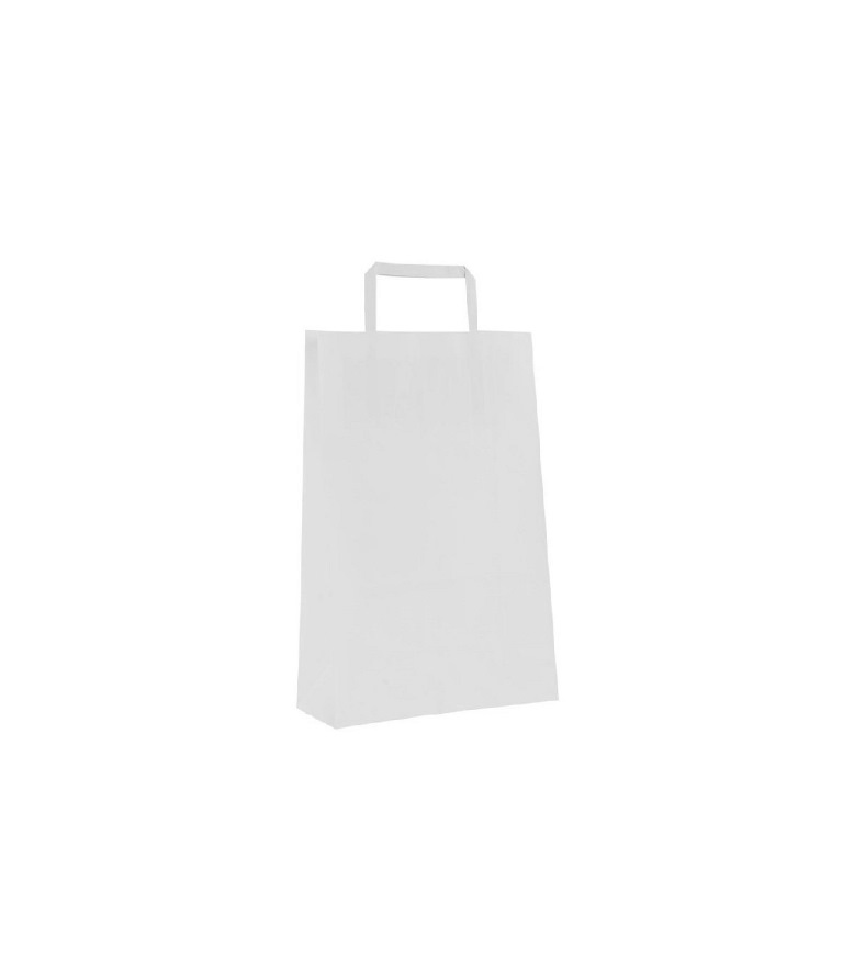 SHOPPER CARTA BIANCO 18+8X26 S/ST