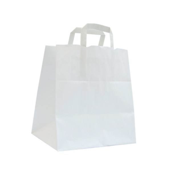 SHOPPER CARTA BIANCO 20+10X32 S/ST