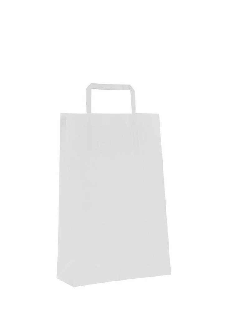 SHOPPER CARTA BIANCO 32+16X45 S/S